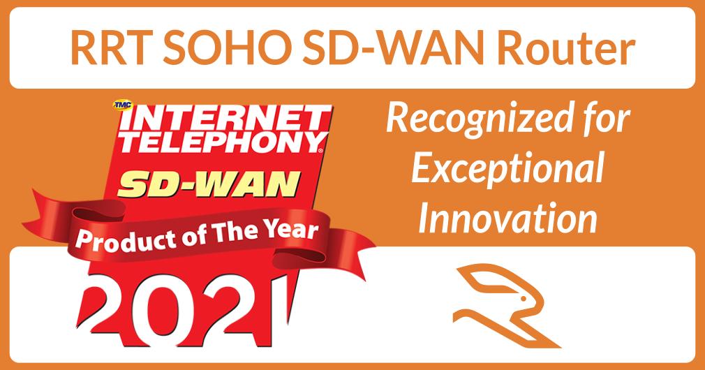 RabbitRun Technologies Awarded SD-WAN Product of the Year – 2021 INTERNET TELEPHONY